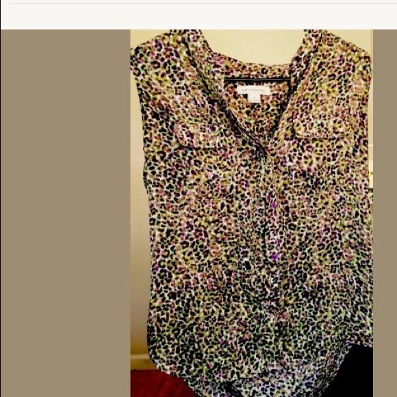 1b61f55a7f009 Liz Claiborne Tops - Skinny Multi Sheer Blouse Top 🌷 LIZ CLAIBORNE